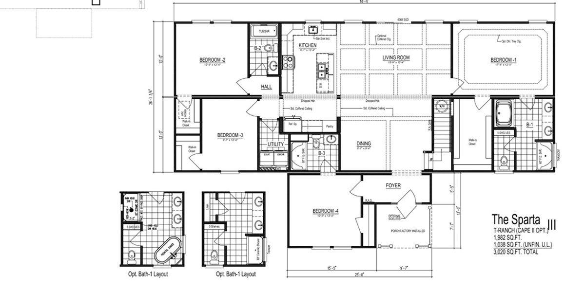 New Floor Plans: The Sparta II, III, IV & V. A Few Twists on an Old Favorite